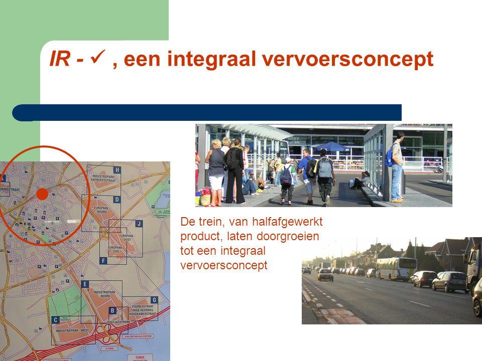 Voortbouwen op succesvol IC-concept Regionale noden mobiliteit opvangen Ontbrekende schakels invullen Sociale dimensie, basismobiliteit Nauwelijks inv