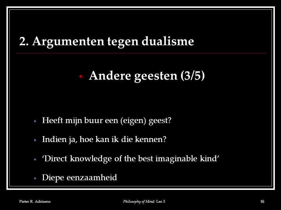 Pieter R. Adriaens 16 2.