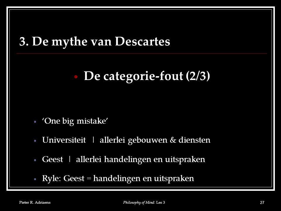 Pieter R. Adriaens 27 3.