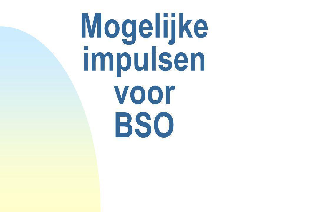 Mogelijke impulsen voor BSO
