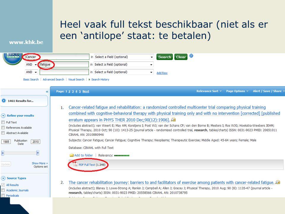 www.khk.be Heel vaak full tekst beschikbaar (niet als er een 'antilope' staat: te betalen)