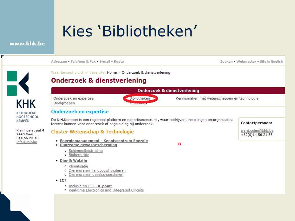 Kies 'Bibliotheken'