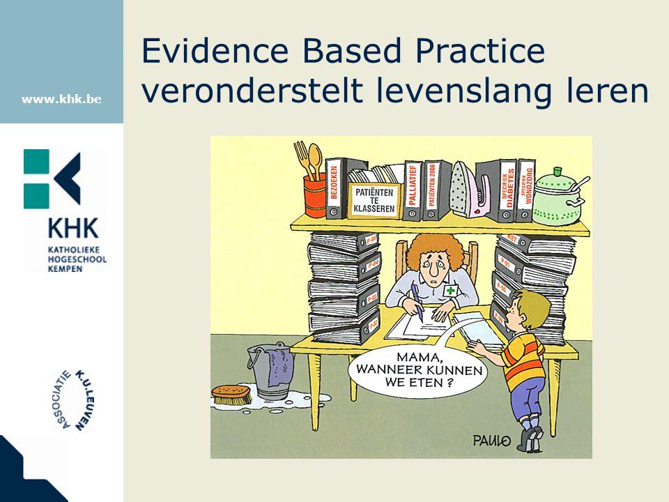 Evidence Based Practice veronderstelt levenslang leren