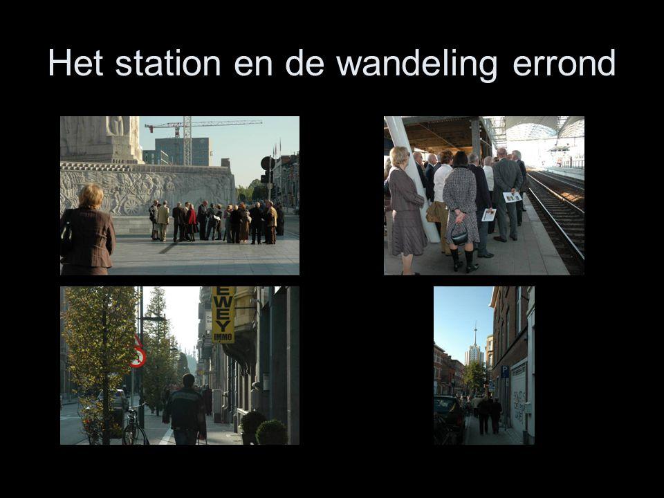 Het station en de wandeling errond