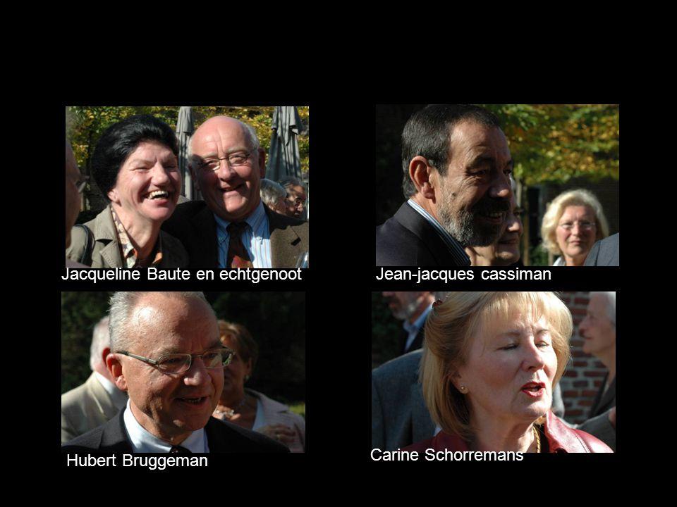 Hubert Bruggeman Carine Schorremans Jacqueline Baute en echtgenootJean-jacques cassiman