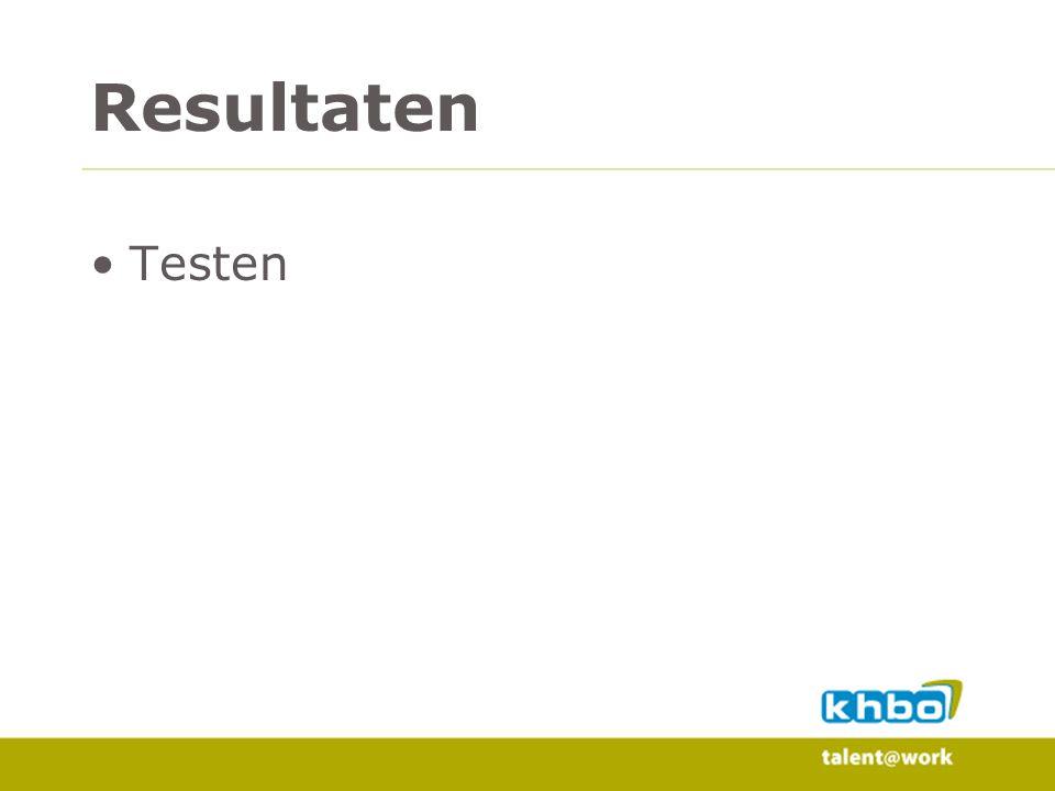Resultaten Testen