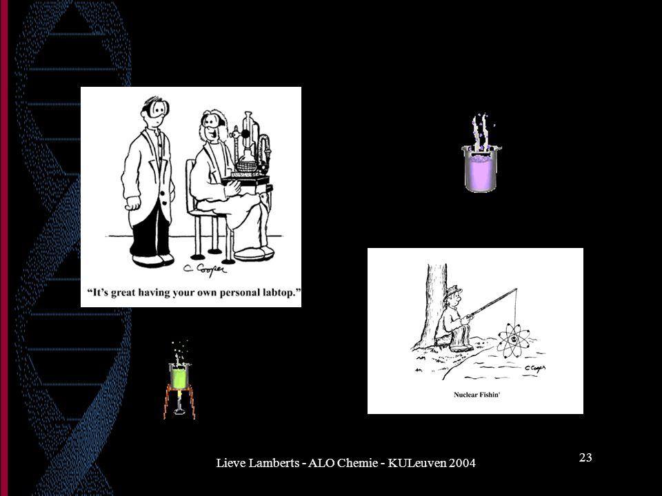 Lieve Lamberts - ALO Chemie - KULeuven 2004 23