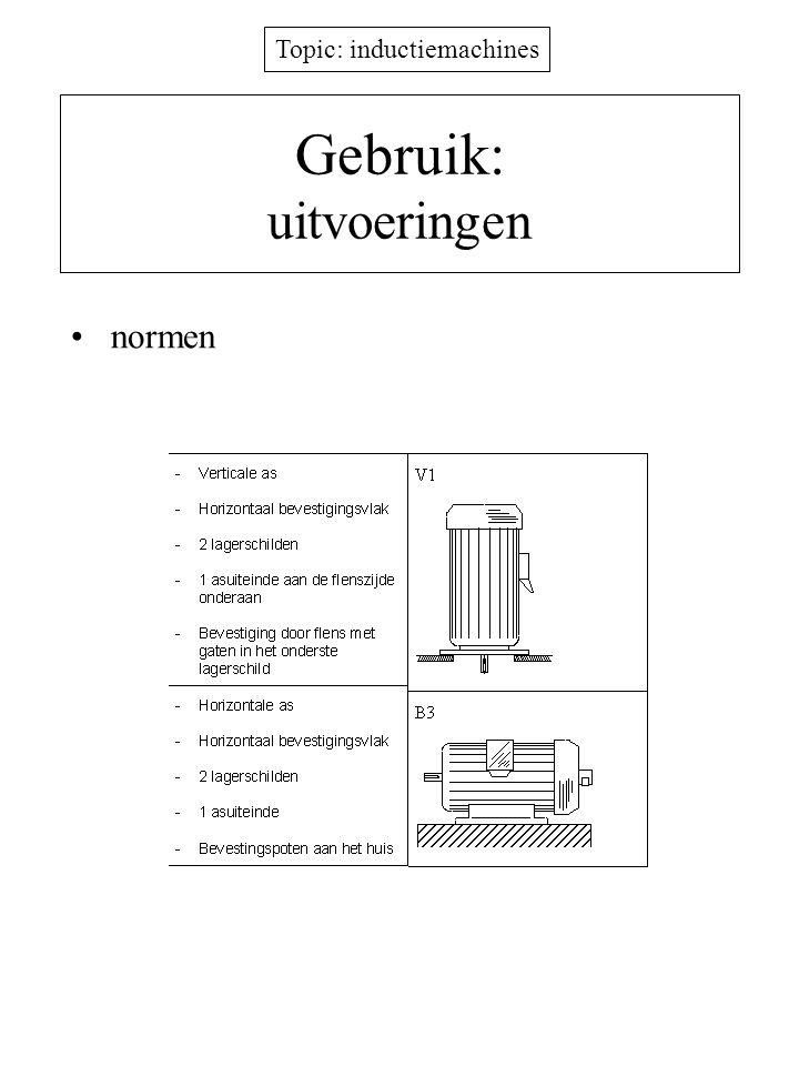 Topic: inductiemachines Gebruik: uitvoeringen normen