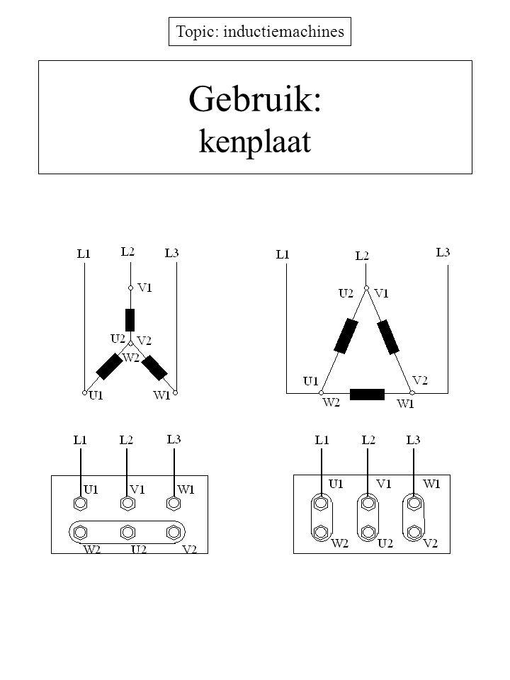 Topic: inductiemachines Gebruik: kenplaat