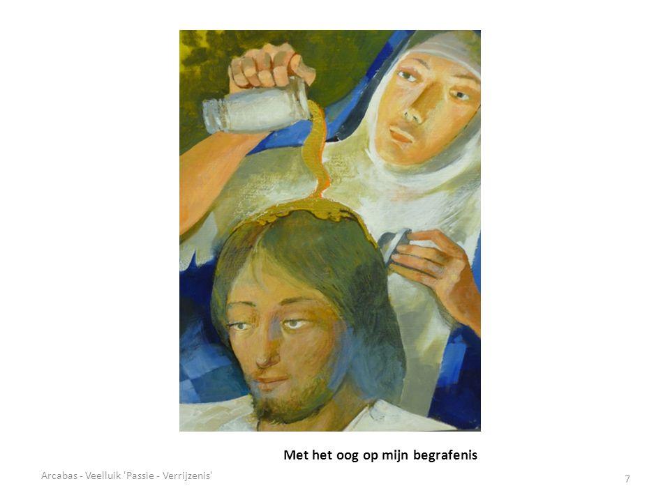 Daar is uw moeder (detail) 28 Arcabas - Veelluik Passie - Verrijzenis