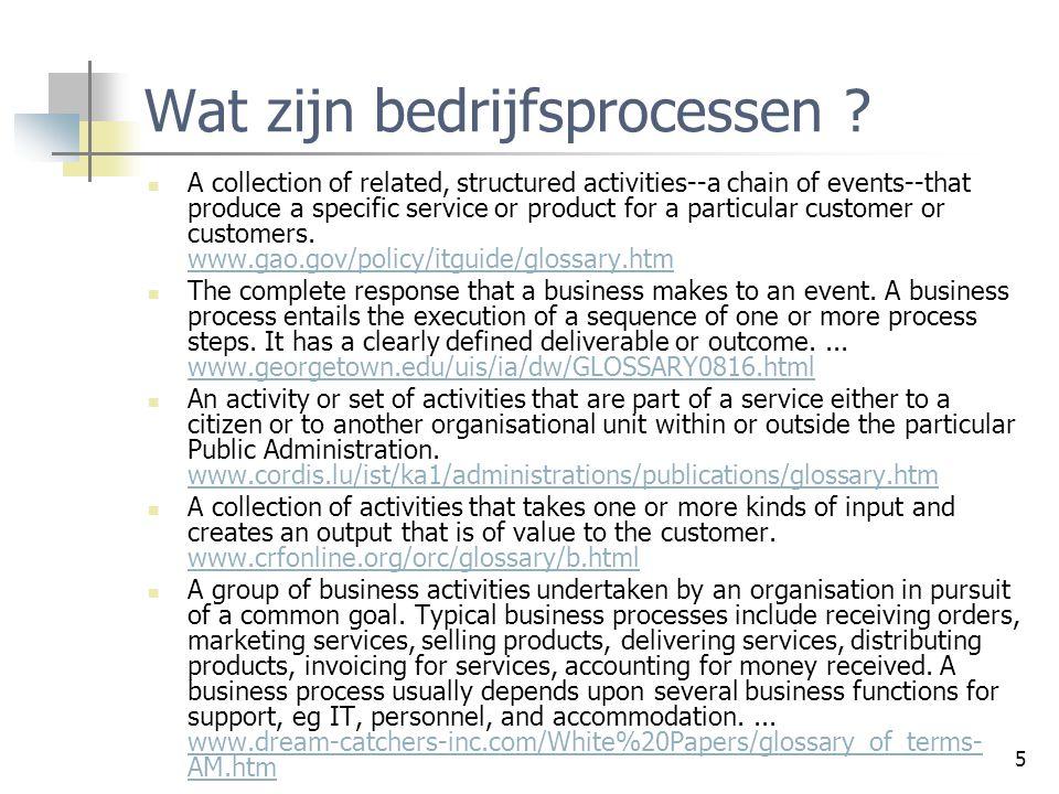 6 Wat zijn bedrijfsprocessen .