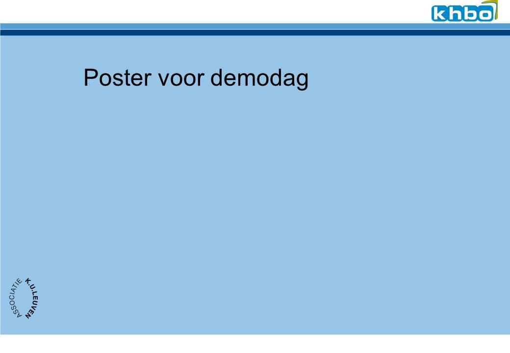 Poster voor demodag
