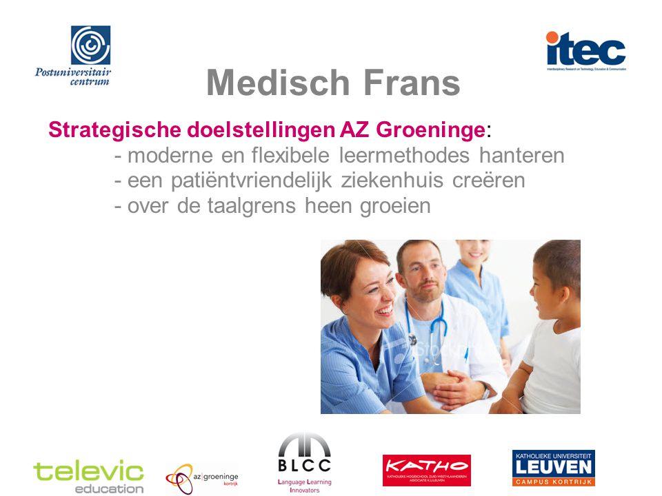 Medisch Frans Partners NoodDomein- expertise Expertise e-learning blended learning Medisch Frans in blended learning