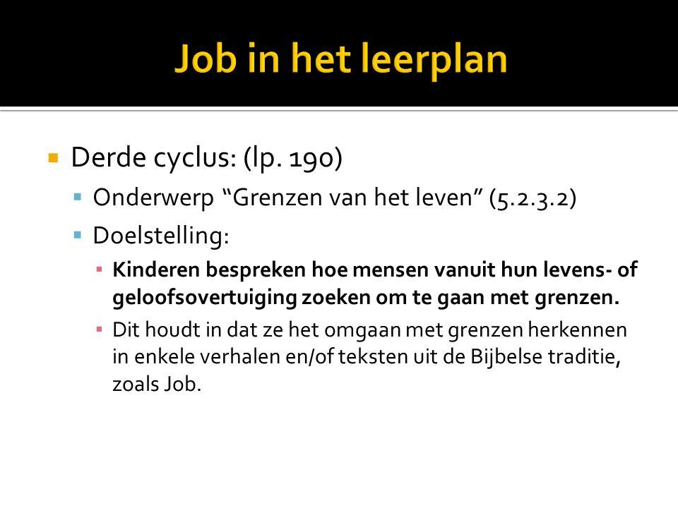 DDerde cyclus: (lp.