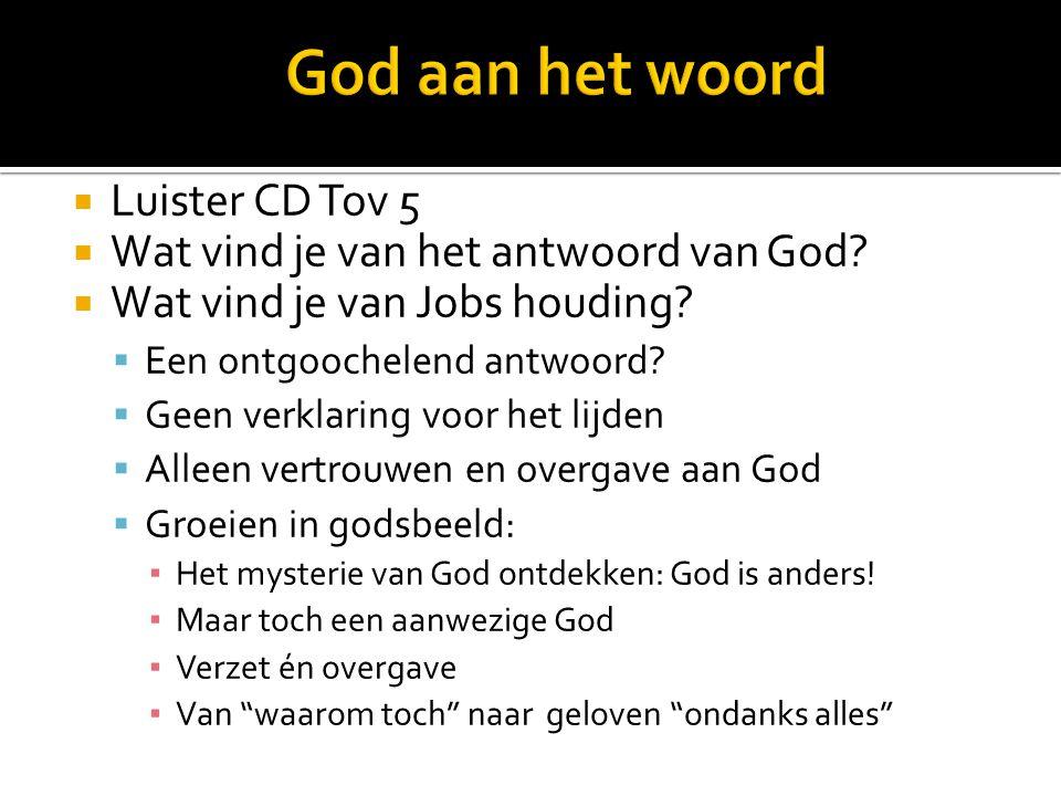 LLuister CD Tov 5 WWat vind je van het antwoord van God.