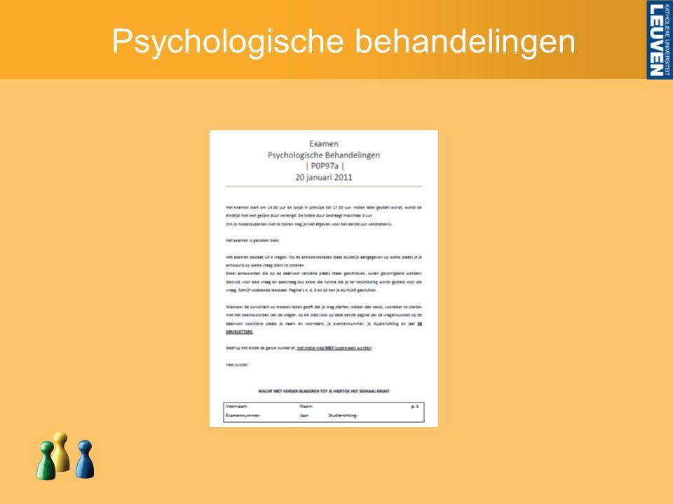 Psychologische behandelingen