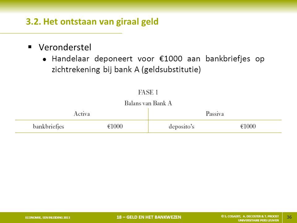 37 ECONOMIE, EEN INLEIDING 2013 18 – GELD EN HET BANKWEZEN © S.
