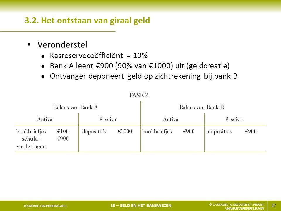38 ECONOMIE, EEN INLEIDING 2013 18 – GELD EN HET BANKWEZEN © S.