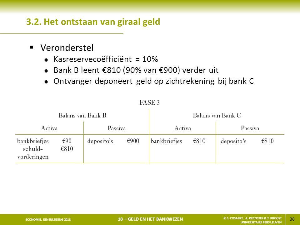 39 ECONOMIE, EEN INLEIDING 2013 18 – GELD EN HET BANKWEZEN © S.