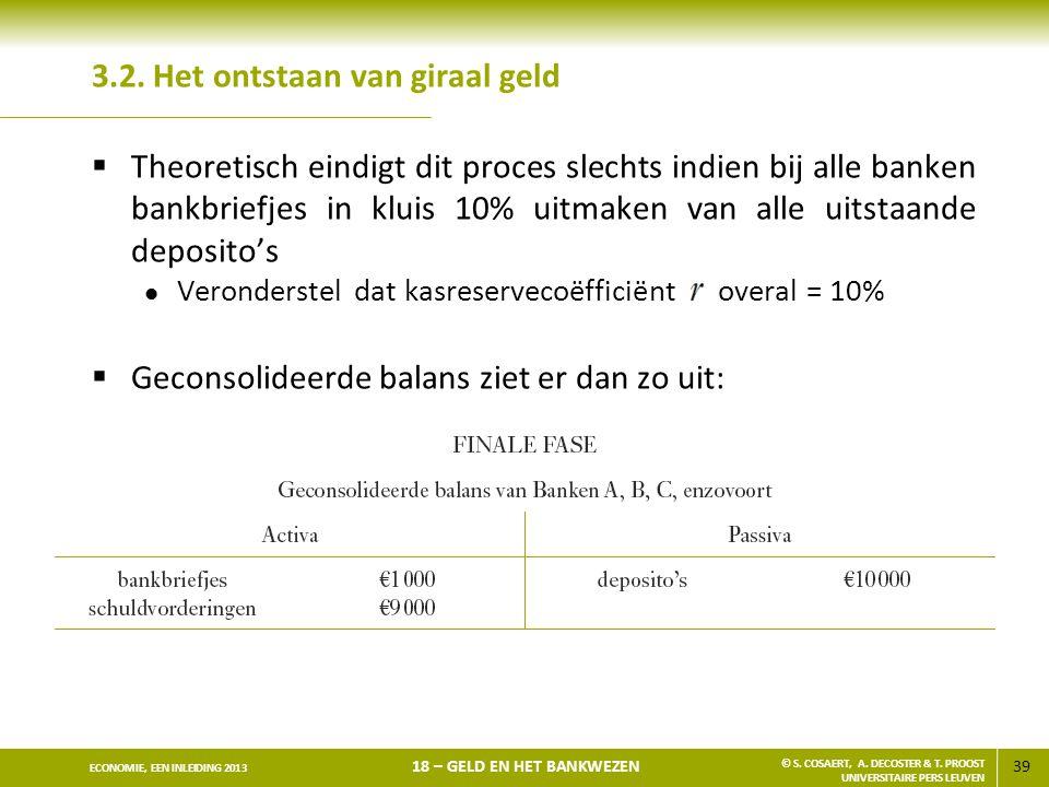 40 ECONOMIE, EEN INLEIDING 2013 18 – GELD EN HET BANKWEZEN © S.