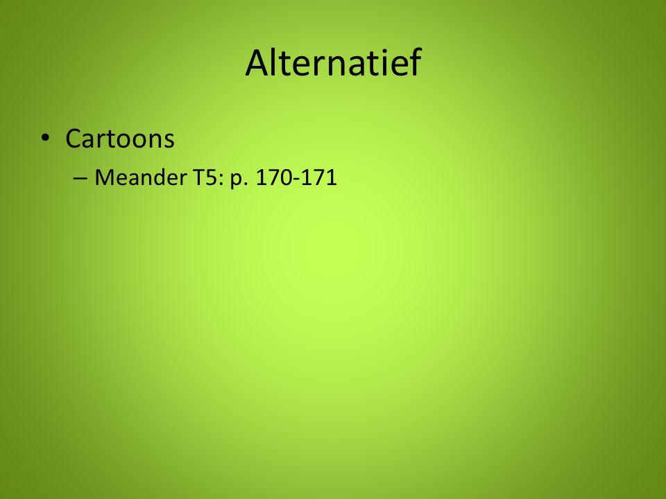 Alternatief Cartoons – Meander T5: p. 170-171