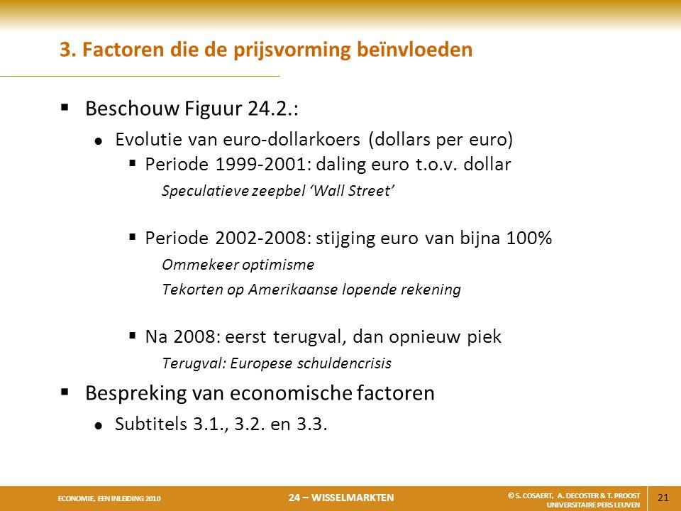 21 ECONOMIE, EEN INLEIDING 2010 24 – WISSELMARKTEN © S.