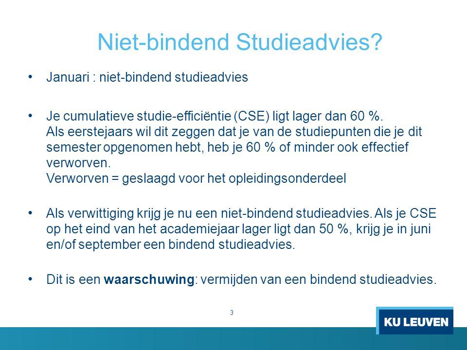 Niet-bindend Studieadvies.