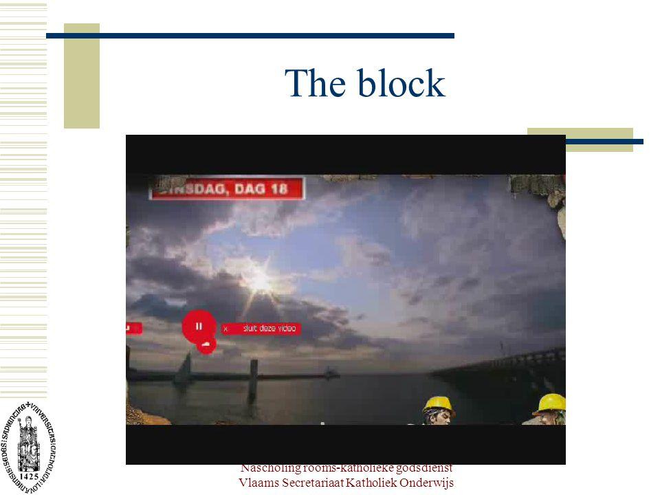 Nascholing rooms-katholieke godsdienst Vlaams Secretariaat Katholiek Onderwijs The block