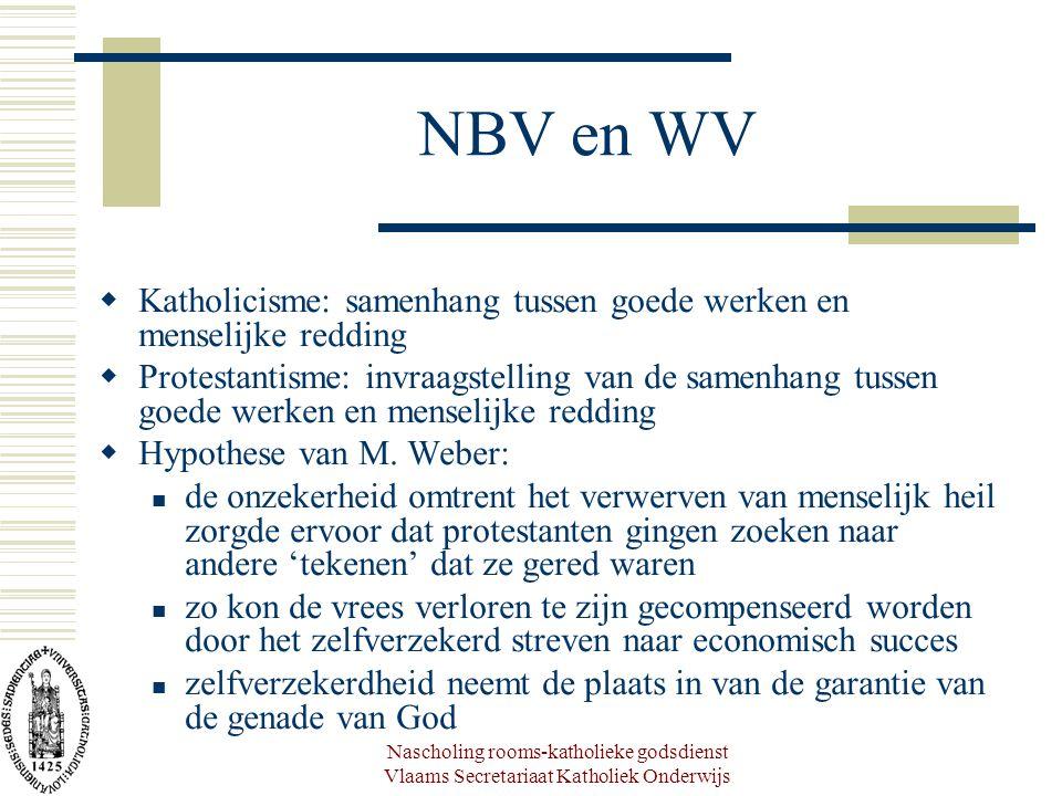 Nascholing rooms-katholieke godsdienst Vlaams Secretariaat Katholiek Onderwijs NBV en WV  Katholicisme: samenhang tussen goede werken en menselijke r