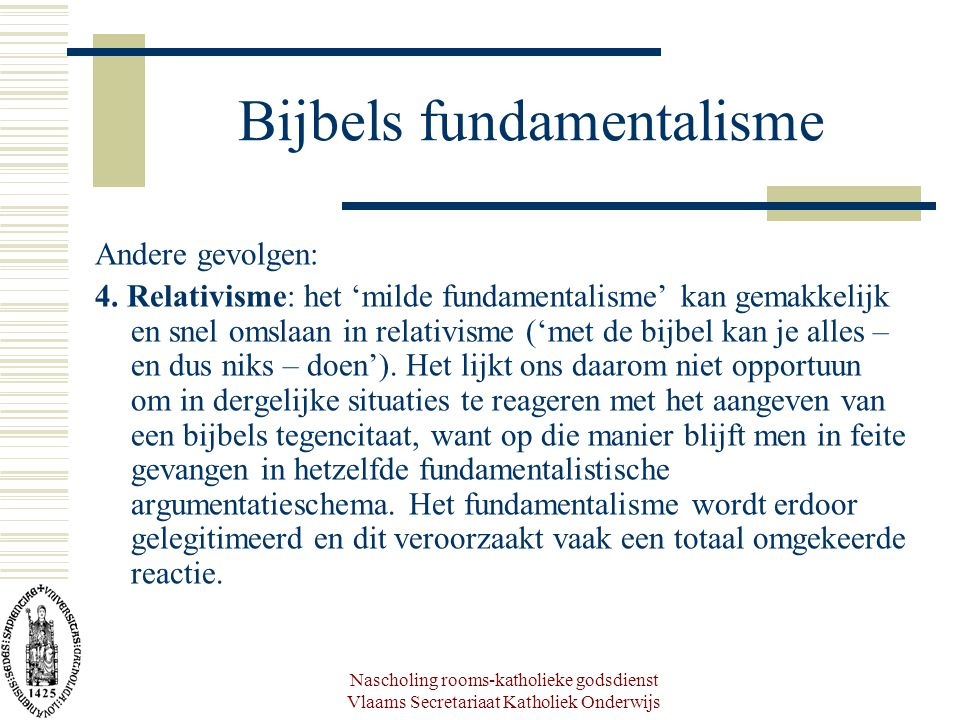 Nascholing rooms-katholieke godsdienst Vlaams Secretariaat Katholiek Onderwijs