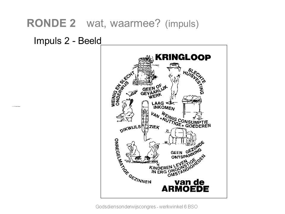 Godsdiensonderwijscongres - werkwinkel 6 BSO RONDE 2 wat, waarmee (impuls) Impuls 2 - Beeld