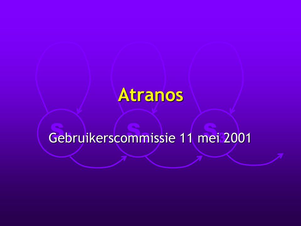 S1S1 S2S2 S3S3 Atranos Gebruikerscommissie 11 mei 2001