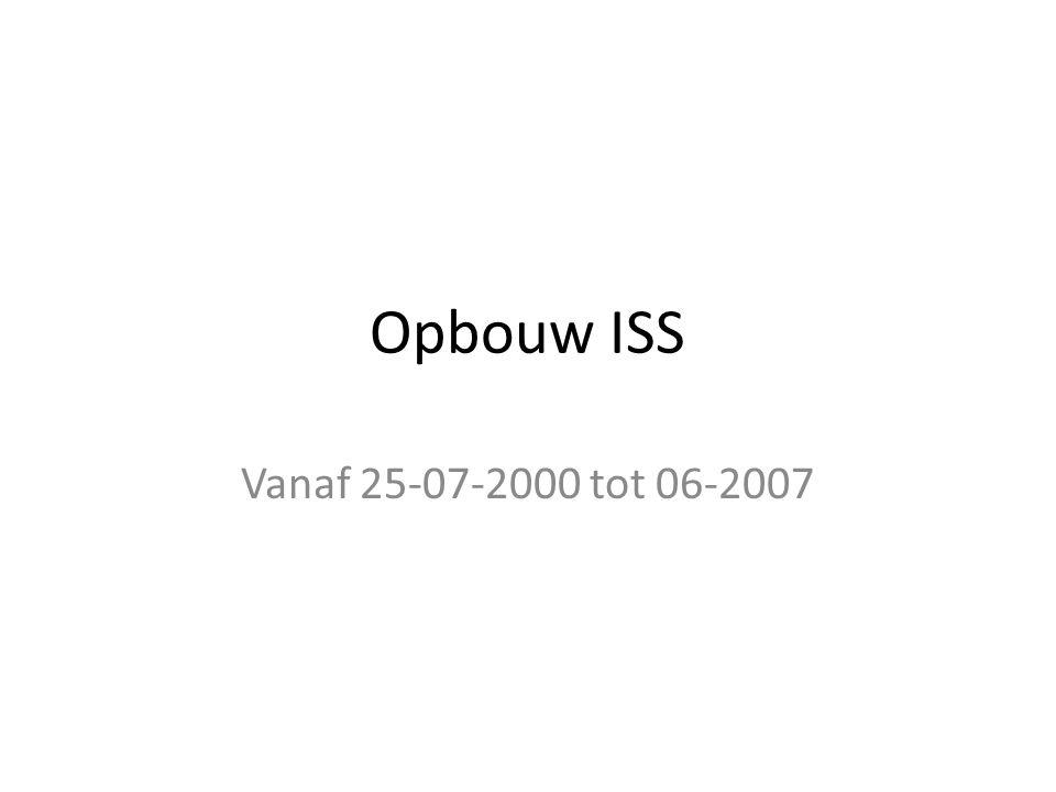 Opbouw ISS Vanaf 25-07-2000 tot 06-2007