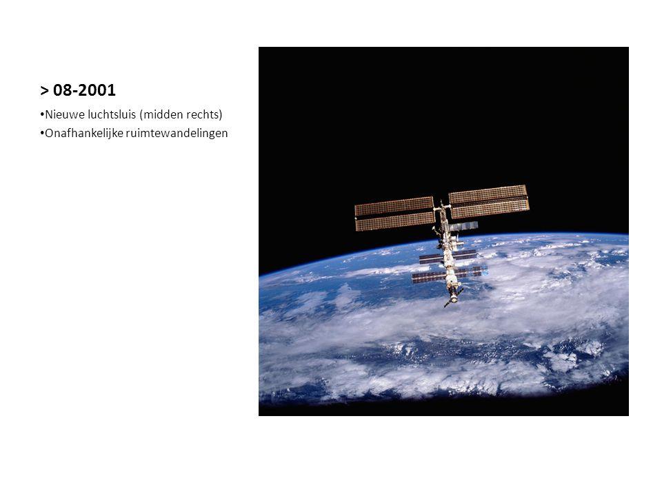 > 08-2001 Nieuwe luchtsluis (midden rechts) Onafhankelijke ruimtewandelingen
