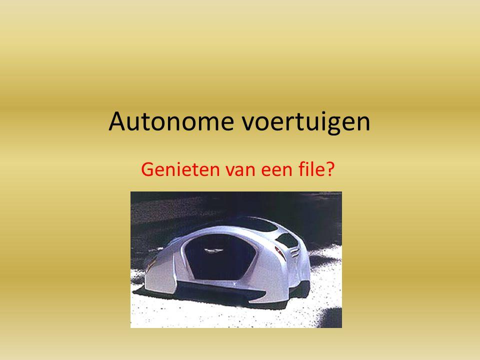 Autonome voertuigen Genieten van een file?