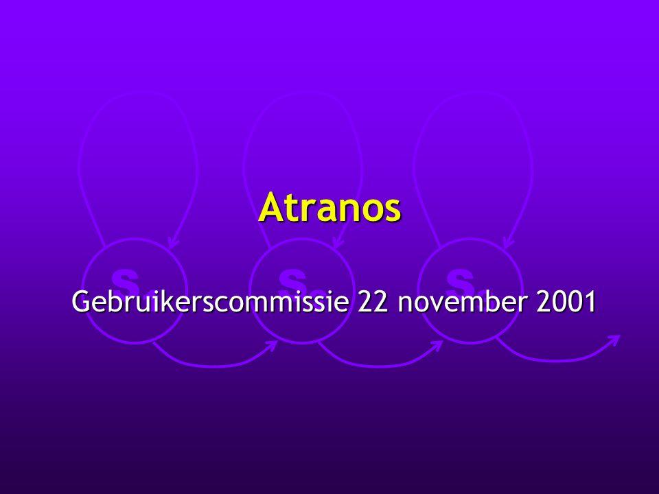 S1S1 S2S2 S3S3 Atranos Gebruikerscommissie 22 november 2001