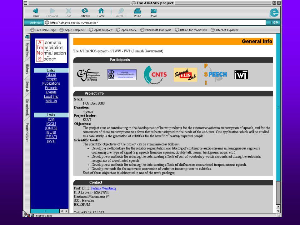 S1S1 S2S2 S3S3 22 november 2001Atranos gebruikerscommissie