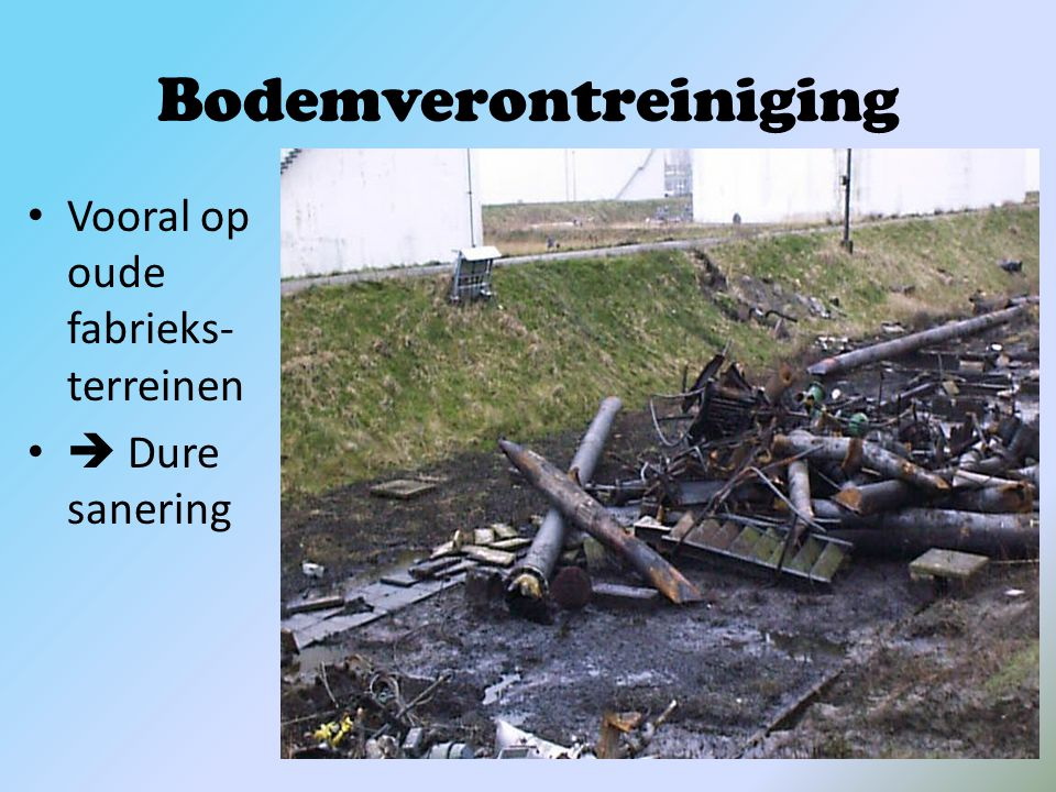 Waterverontreiniging Lozingen van giftige stoffen in rivieren, zee, …  Vissterfte  Olieschade