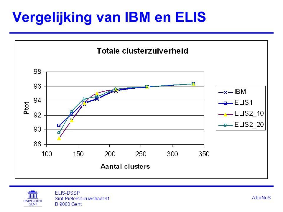 ELIS-DSSP Sint-Pietersnieuwstraat 41 B-9000 Gent ATraNoS Vergelijking van IBM en ELIS