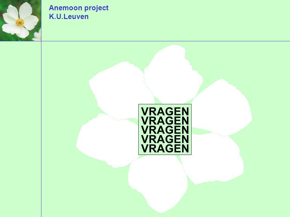 Anemoon project K.U.Leuven VRAGEN