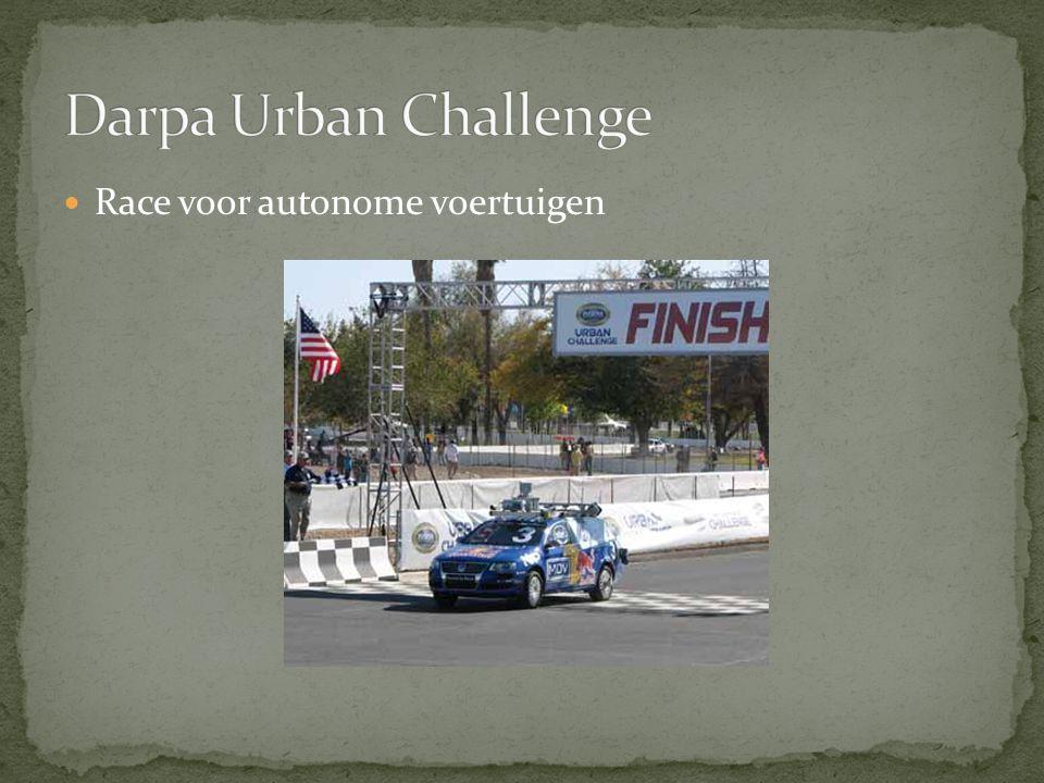 Race voor autonome voertuigen