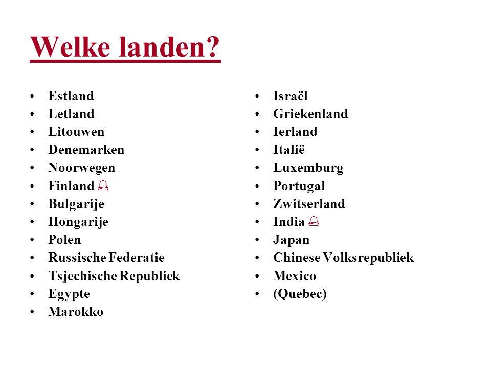 Welke landen.
