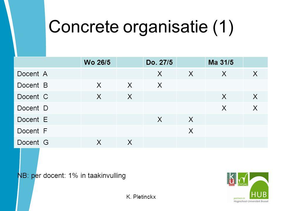 Concrete organisatie (1) Wo 26/5Do.
