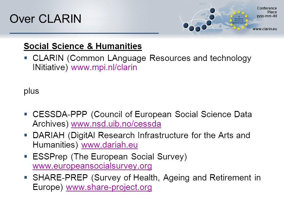 Conference Place yyyy-mm-dd www.clarin.eu CLARIN: juridisch  IPR e.d.