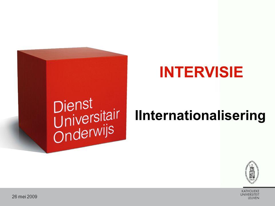 26 mei 2009 INTERVISIE IInternationalisering