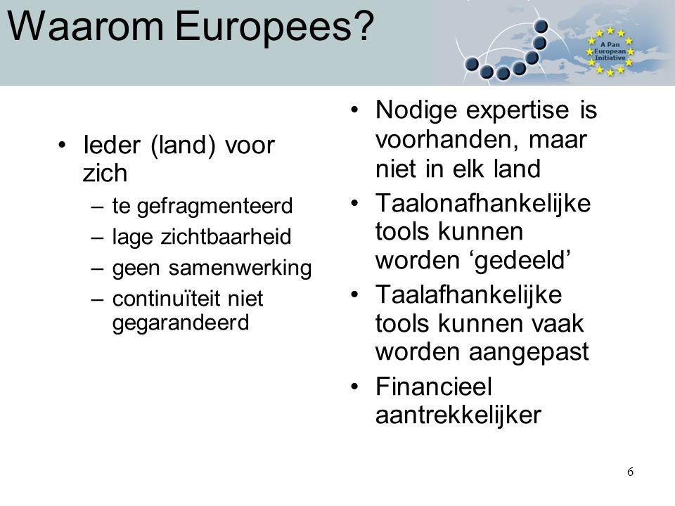 6 Waarom Europees.