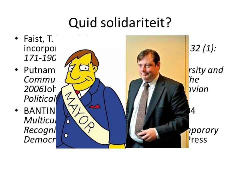 Quid solidariteit. Faist, T.