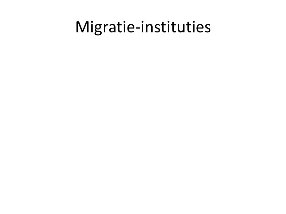 Migratie-instituties