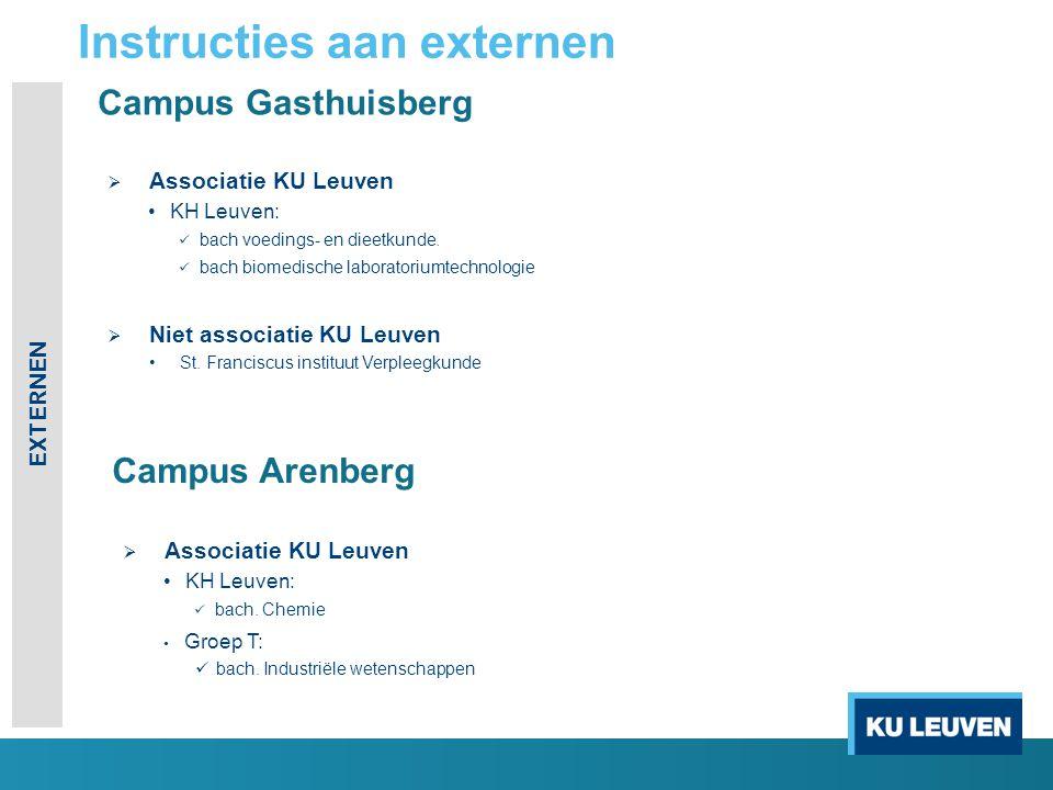 Campus Gasthuisberg  Associatie KU Leuven KH Leuven: bach voedings- en dieetkunde.
