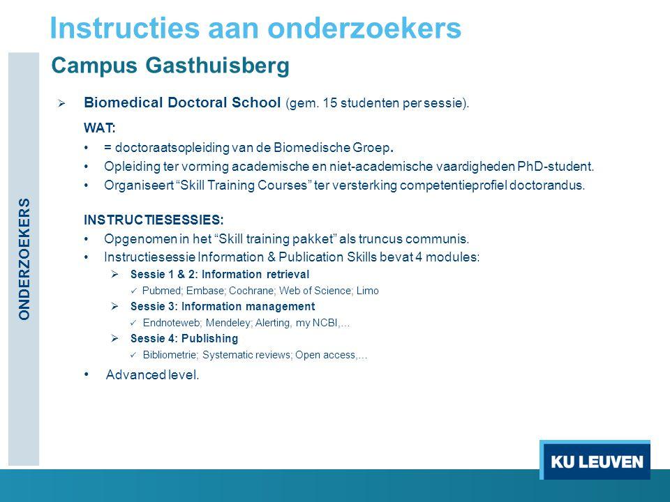 Campus Gasthuisberg  Biomedical Doctoral School (gem.
